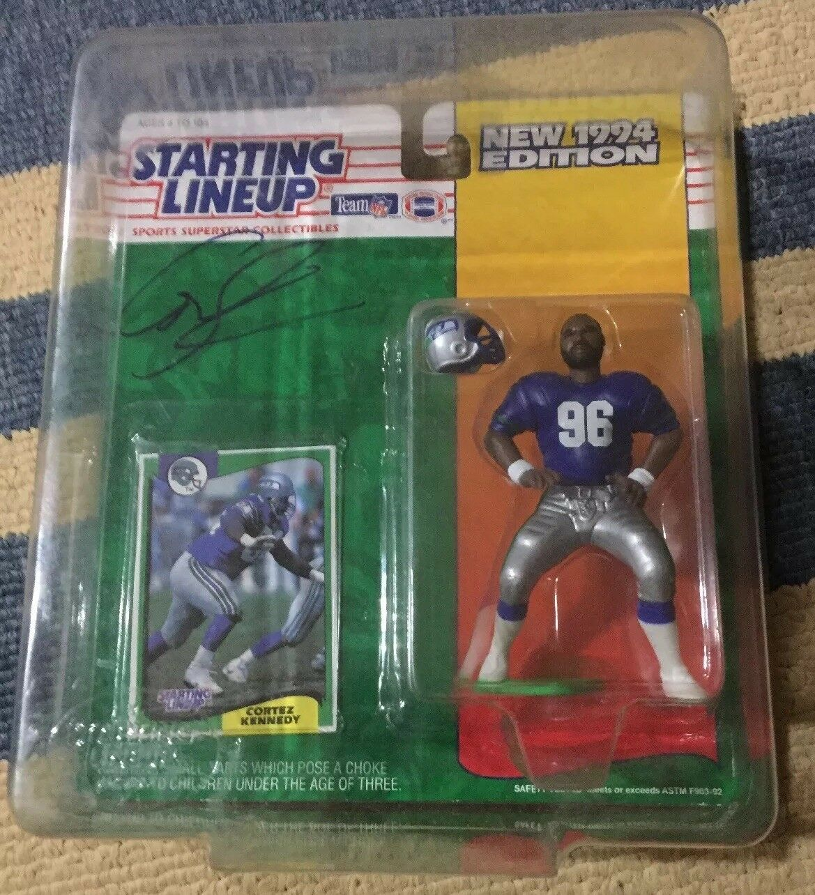 Cortez Kennedy Signed Autographed 1994 estrellating Lineup..Seahawks. ceased..HOF