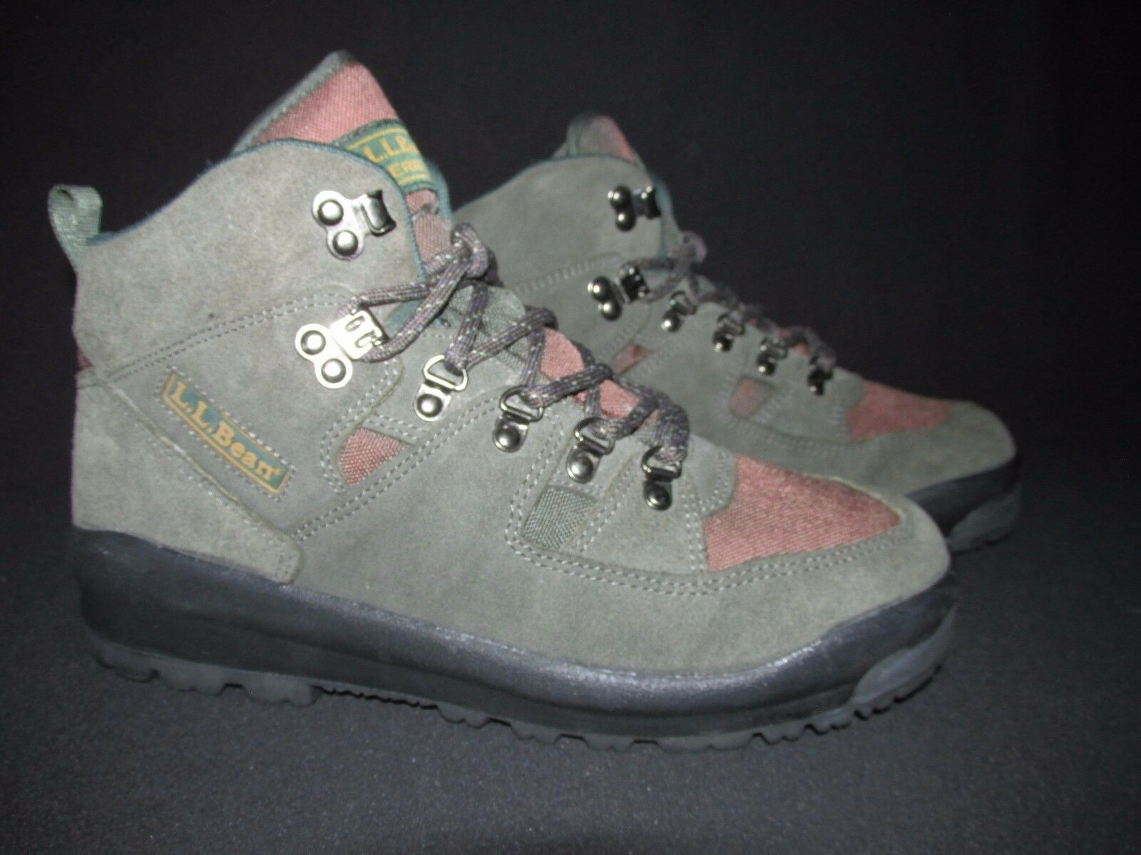L.L. Bean Merrell X660 Green Brown Suede Nylon Hiking Trail Boots Women's 10W