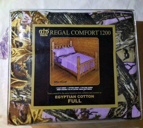 tamanho completo roupa de cama 6 Peças Camuflagem Roxo Claro Woods Conjunto De Folha de camuflagem de lavanda!!