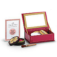 American Girl Rebecca Stage Makeup For Dolls Red Makeup Case Brush Powder