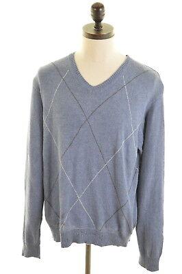 Kleidung & Accessoires Herrenmode Sonderabschnitt Nautica Mens V-neck Jumper Sweater Large Blue Cotton Jahre Lang StöRungsfreien Service GewäHrleisten