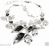 TAXCO MEXICAN 925 STERLING SILVER CALLA LILY FLORAL FLOWER NECKLACE MEXICO