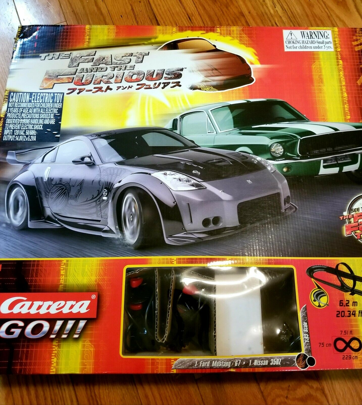 Carrera GO  FAST AND THE FURIOUS Tokyo Drift 1 43 Slot Car Racetrack mustang & Z