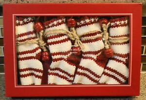 New Pottery Barn Holiday Christmas Knitted Stripe Flatware