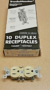 Box Of 10 Pass /& Seymour Brown Receptacle Outlets 15A Trademaster 3232 NIB