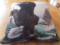 American Eagle Tapestry Look Pillow