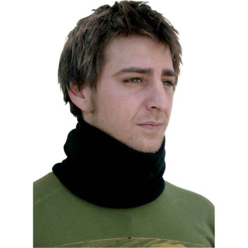 Zan Headgear Black Microfleece Neck Warmer for Cold Weather Motorcycle ATV
