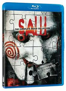 Blu-Ray-SAW-1-2-3-4-5-6-amp-7-unrated-movie-collection-box-set-New-sealed