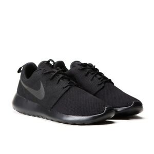 752eb52326e2 Nike Roshe One 1 Run Rosherun Triple Black 511881-026 Men Running ...