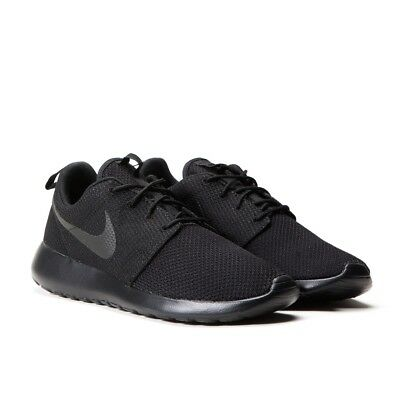 san francisco f6d4d 0caed Nike Roshe One 1 Run Rosherun Triple Black 511881-026 Men Running Shoes  Trainers | eBay