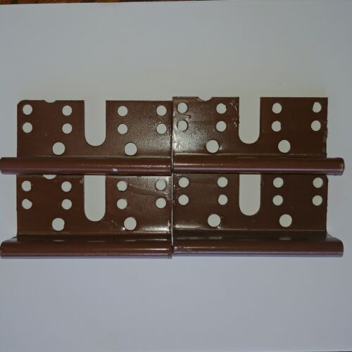 "4 Bed Post Bracket For 2 Hook Slot Bed Rail Headboard Plates 3-3//4/"" x 1-3//4/"""