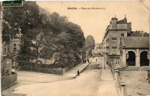 CPA Macon Rue de Strasbourg (616264)