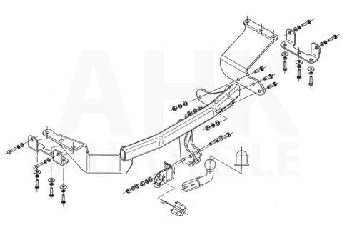 Für Mitsubishi Outlander II CW0W 07-12 Anhängerkupplung starr+E-Satz 7p