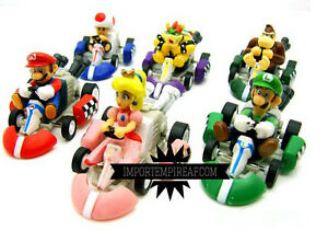Super Mario Bros 6 Kart Cars Characters Figures Go Action