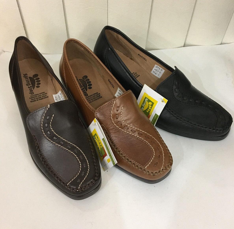 spedizione gratuita! Spring Step Rachel nero Marrone MediumBrowm Leather Leather Leather Wedge scarpe Sz 37-42 (US7-11)  memorizzare
