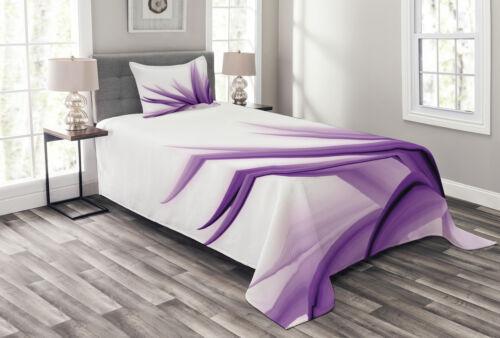 Purple Ombre Lotus Art Print Flower Quilted Bedspread /& Pillow Shams Set