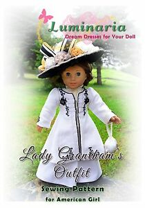 PATTERN-Downton-Abbey-Titanic-Lady-Grantham-Dress-Clothes-for-18-034-American-Girl