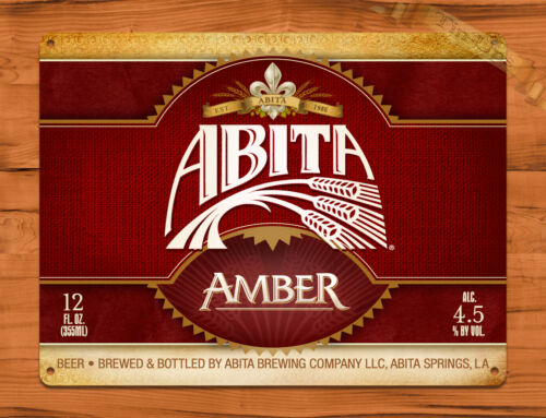 "TIN SIGN  /""Abita Amber/"" Beer Mancave Wall Decor"