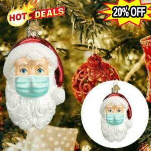 3D-Christmas-Tree-Ornaments-2020-Santa-Wearing-Mask-Hanging-Peadant-Decor-Gifts