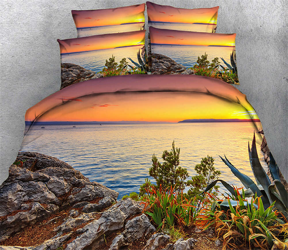Glaring Tidy Leaf 3D Printing Duvet Quilt Doona Covers Pillow Case Bedding Sets