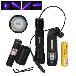 UV WF-501B LED 365NM Ultra Violet Blacklight Flashlight Torch 18650 Light LampEF