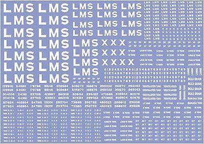 Adattabile Modelmaster Lm301 Vagone Lms Lettere & Numeri Decalcomanie/trasferibili