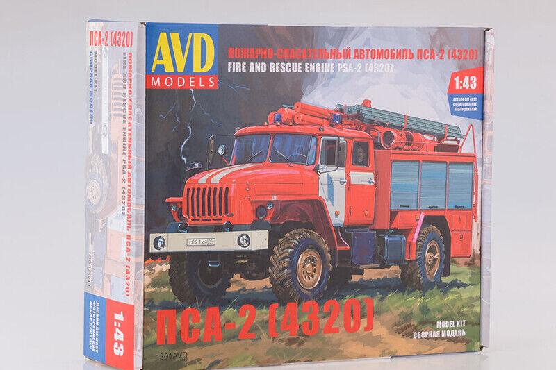 Entrega directa y rápida de fábrica PSA-2 rescate camión bomberos de de de Rusia sobre Ural - 4320 chasis 1 43 este cuadro Modelos 1301AVD  barato y de moda