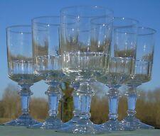 Meisenthal - Service de 6 verres à eau en verre taillé, modèle Mirabeau. H.15,7