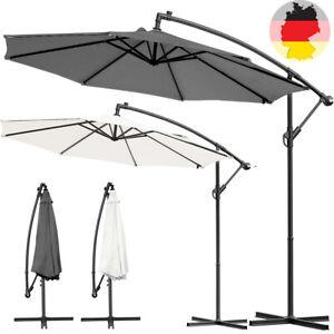 Sonnenschirm-Ampelschirm-Marktschirm-Handkurbel-Schirm-Gartenschirm-Alu-300cm