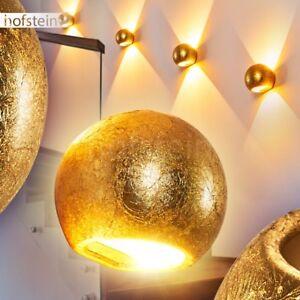 goldfarbene Flur Dielen Lampen modern Wohn Schlaf Raum Beleuchtung Wand Leuchten