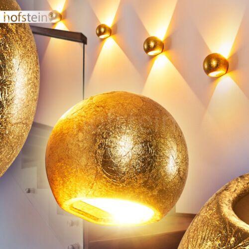 Flur Dielen Beleuchtung Wand Lampen goldfarben Keramik Wohn Schlaf Raum Leuchten