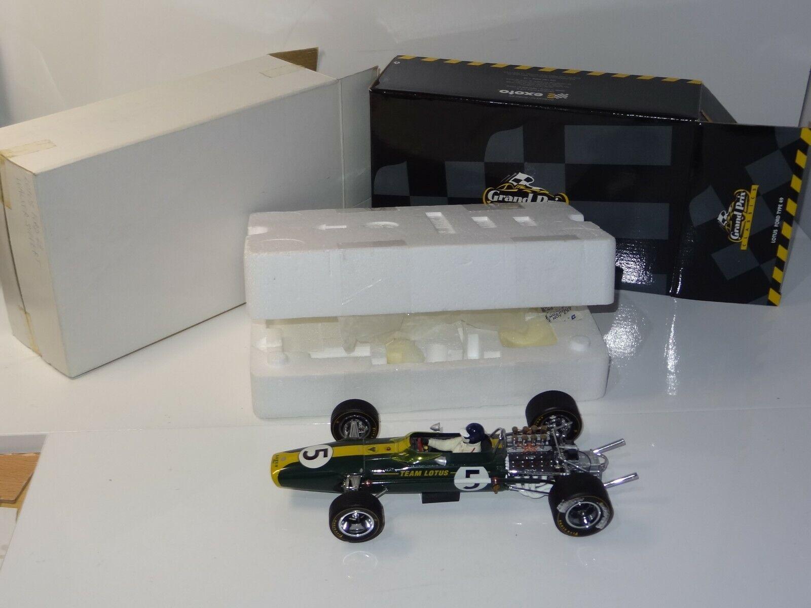 (W) EXOTO 1 18 LOTUS FORD 49 Graham Hill Afrique du Sud Grand Prix - 97003 Boxed