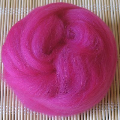 Felt Making and Spinning Turquoise 100g Merino Wool Tops 64/'s Dyed Fibres