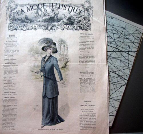 PATRON LA MODE ILLUSTREE n° 41//1909 Voir modèles à réaliser FRENCH PATTERN