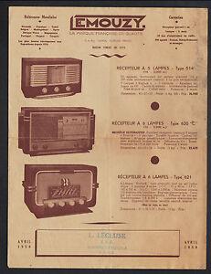 """SAINT-BONNET-de-TRONCAIS (03) RADIOS-PHONOS """"EMOUZY / L. LECLUSE TSF"""" Tract 1950 - France - État : Occasion : Objet ayant été utilisé. Consulter la description du vendeur pour avoir plus de détails sur les éventuelles imperfections. Commentaires du vendeur : """"CORRECT"""" - France"""