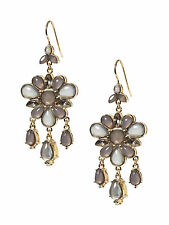 Banana Republic Gray Statement Flower Chandelier Earring Grey NIP $49