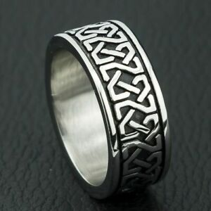 Unisex-Ring-Bohemian-Style-Geometric-Pattern-Stainless-Steel-Charm-Accessories