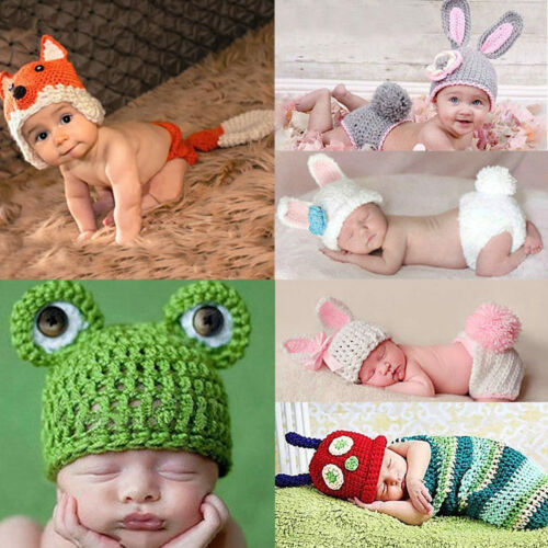 Newborn Baby Girl Boy Knit Crochet Clothes Photo Costume Photography Prop New