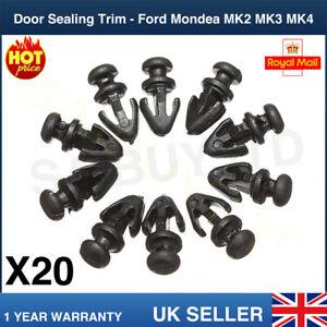20 Guarnizione Porta Guarnizione Davanzale Trim Allacciate Clip inferiore per Ford Mondeo MK2 MK3 MK4