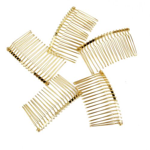 5pcs Metal Hair Comb Slide Side Combs Hair Clip for Bridal Wedding Decor