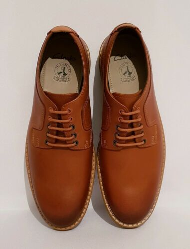 95 Formal Rrp Brown Pitney Lace Clarks Tan Shoes Up Mens Genuine Leather £ Walk awIxxqEz