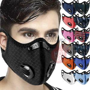 Reusable-Outdoor-Cycling-Riding-Air-Purifying-Face-Mask-Carbon-Filter-Valves