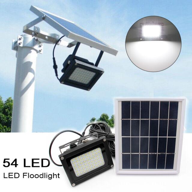 54 LED Waterproof Solar Powered Sensor Flood Light Outdoor Garden