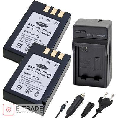 Ex-Pro Batería NP-140 NP140 Fuji Finepix S100 FS S100FS S200EXR S205EXR 2 Pack