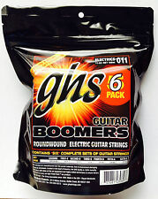 Six Sets of GHS Boomers Electric Guitar Strings GBM 11-50  6-pack set