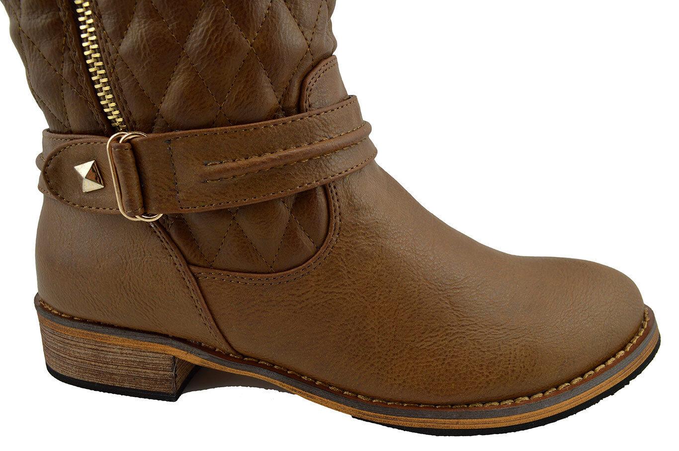 150 Braun Fashion Riding Knee High BOOTS Damens Schuhes NEU COLLECTION