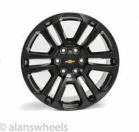 "4 Chevy Suburban Tahoe Satin Black Gold Bowtie 20"" Wheels Rims Lugs Ck158"