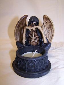 Tod mit Teelicht Grim Reaper Gothic Figur Deko