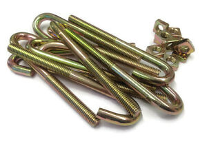 Pack Of 10 M8 X 100mm J Bolts Hook Bolts Roofing Bolts