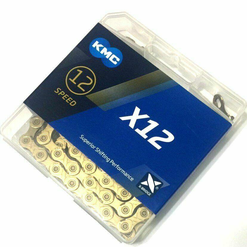 KMC X12 Super Light Chain, gold, 12 speed, 126 links, AMB